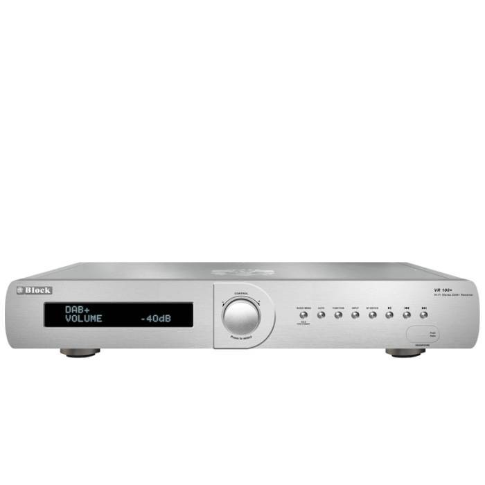 BLOCK VR-100+ MKII STEREO RECEIVER includ. DAB+ SILVER