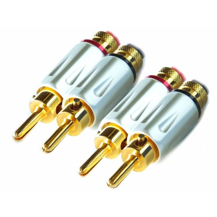 Ricable Supreme BNS - Kit 4 pieces. Banana Speaker Connectors