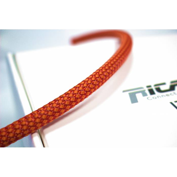 Ricable OR08 - Braided sheath by meter - Orange/Red for cable 4-10 mm. Total Coverage